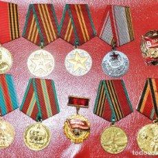 Militaria: LOTE 3 DE 10 MEDALLAS SOVIETICOS .URSS. Lote 114396888