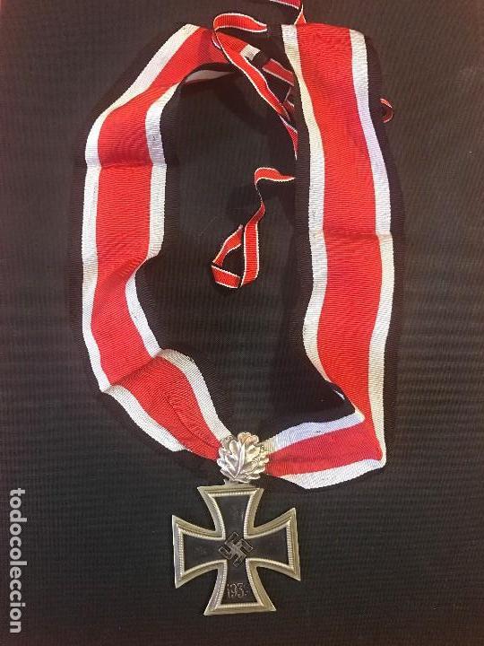Militaria: Cruz de Caballero con hojas de roble eichenlaub ritterkreuz Reich Hitler Fuhrer NSDAP nazi - Foto 2 - 81233800