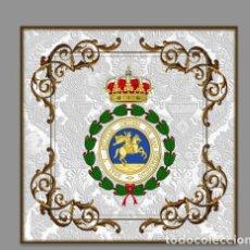 Militaria: AZULEJO 10X10 DE VENERA DE LA REAL Y MILITAR ORDEN DE SAN HERMENEGILDO. Lote 108429327