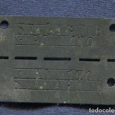 Militaria: ALEMANIA III REICH. CHAPA DE IDENTIFICACIÓN DE PRISIONERO DE GUERRA DEL STALAG IIB, HAMMERSTEIN, . Lote 105185411