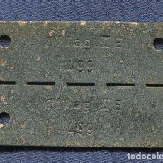Militaria: ALEMANIA III REICH. CHAPA DE IDENTIFICACIÓN DE PRISIONERO DE GUERRA DEL OFLAG IIE, NEUBRANDENBURG.. Lote 105186431