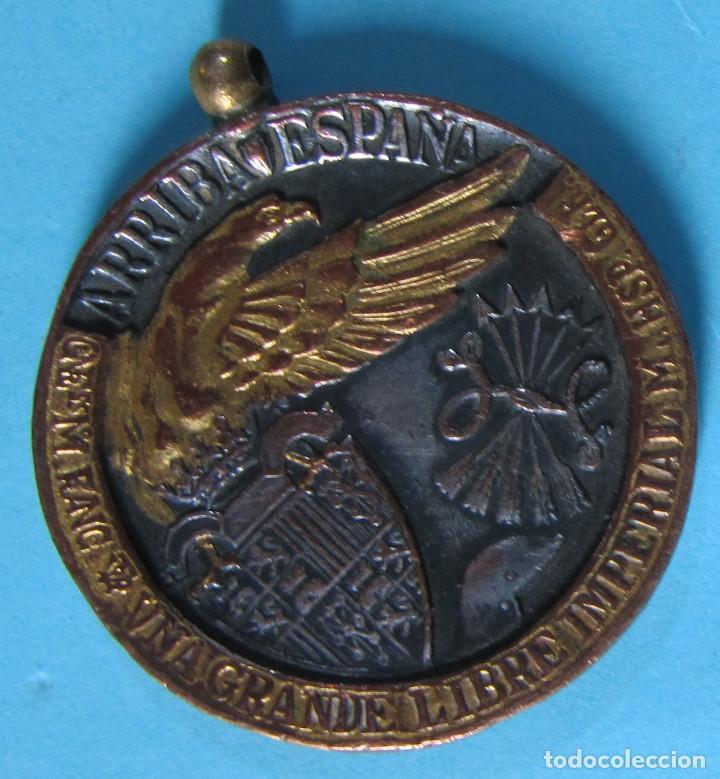 Militaria: MEDALLA UNA GRANDE LIBRE IMPERIAL. ¡ARRIBA ESPAÑA!, 17 DE JULIO DE 1936. - Foto 2 - 105192643