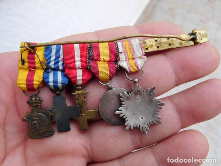 Militaria: Pasador con medallas en miniatura guerra civil y anterior - Foto 4 - 105264799