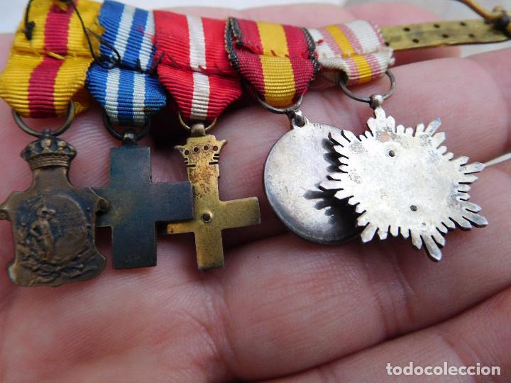 Militaria: Pasador con medallas en miniatura guerra civil y anterior - Foto 5 - 105264799