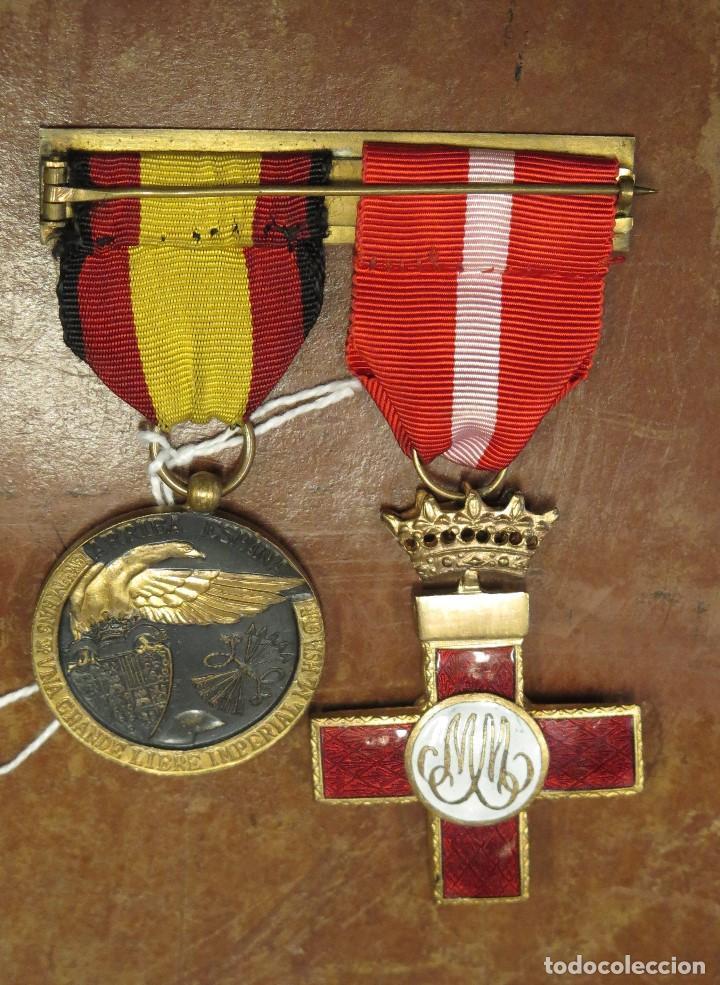 Militaria: DOBLE PASADOR MEDALLA CRUZ ROJA MERITO MILITAR Y MEDALLA DE LA CAMPAÑA - Foto 3 - 105446955