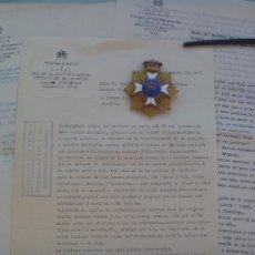 Militaria: GRAN PLACA Y CORRESPONDENCIA ENTRE S.A.I.Y R. PRINCIPE DE GRAU-MOCTEZUMA Y MIEMBRO , MARQUES. 1963. Lote 104748191