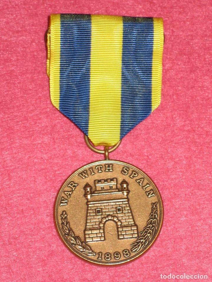 SPANISH CAMPAIGN MEDAL. USA (Militar - Reproducciones y Réplicas de Medallas )