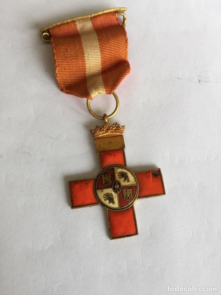 MEDALLA CRUZ MÉRITO MILITAR DISTINTIVO ROJO (Militar - Medallas Españolas Originales )