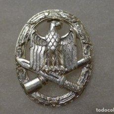 Militaria: PLACA DE ASALTO GENERAL ALEMANA, VERSIÓN PARA CUMPLIR LA LEY DE 1957. Lote 106021439