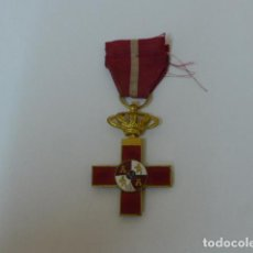 Militaria: ANTIGUA MEDALLA AL MERITO MILITAR ROJO ALFONSINO. ORIGINAL. DE MILITAR CAMPAÑA DE CUBA. . Lote 106022843
