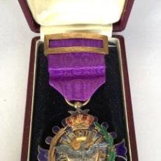 Medalla militar Alfonso XII - ALTIORA PETO - ORO, PLATA y ESMALTE