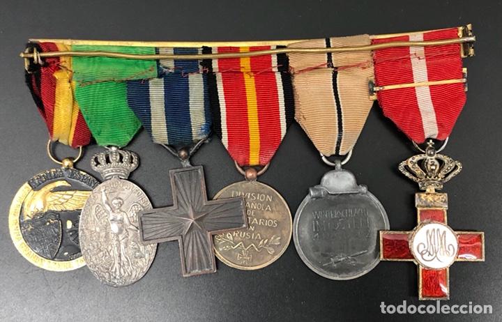 Militaria: PASADOR DE MEDALLAS VETERANO MARRUECOS, GUERRA CIVIL Y DIVISIÓN AZUL. - Foto 2 - 106063362