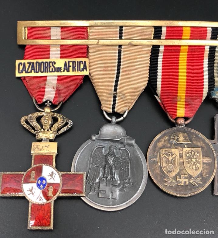 Militaria: PASADOR DE MEDALLAS VETERANO MARRUECOS, GUERRA CIVIL Y DIVISIÓN AZUL. - Foto 3 - 106063362