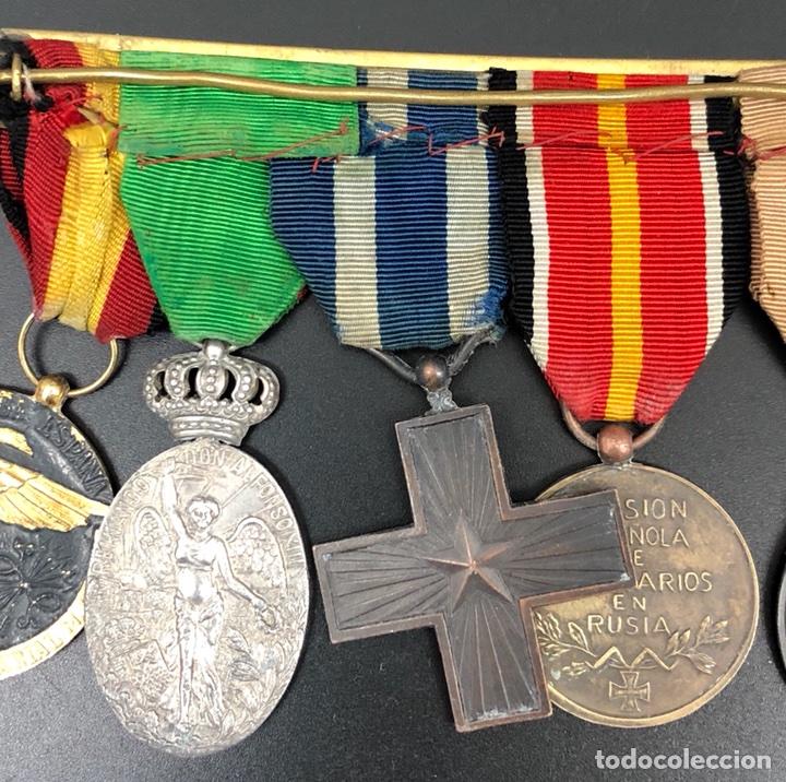 Militaria: PASADOR DE MEDALLAS VETERANO MARRUECOS, GUERRA CIVIL Y DIVISIÓN AZUL. - Foto 5 - 106063362