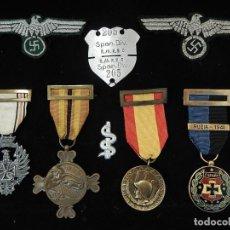 Militaria: CUADRO CONJUNTO DE RECOMPENSAS, DISTINTIVOS RELACIONADOS CON LA DIVISIÓN AZUL / EJÉRCITO ALEMÁN (2). Lote 106644455