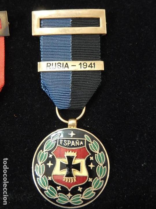 Militaria: Cuadro conjunto de recompensas, distintivos relacionados con la División Azul / Ejército Alemán (2) - Foto 33 - 106644455