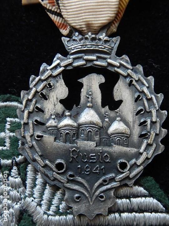 Militaria: Cuadro conjunto de recompensas, distintivos relacionados con la División Azul / Ejército Alemán (2) - Foto 5 - 106644455