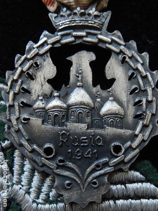 Militaria: Cuadro conjunto de recompensas, distintivos relacionados con la División Azul / Ejército Alemán (2) - Foto 6 - 106644455