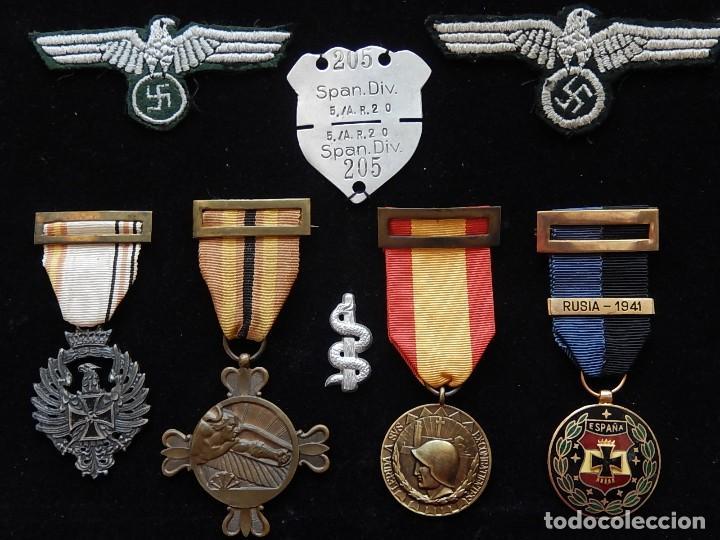 Militaria: Cuadro conjunto de recompensas, distintivos relacionados con la División Azul / Ejército Alemán (2) - Foto 43 - 106644455