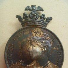 Militaria: MEDALLON DE LA EXPOSICION UNIVERSAL DE BARCELONA DE 1888 . DE CASTELLS. MUY RARO.. Lote 106952491