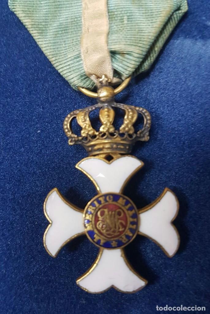 CRUZ DE LA ORDEN DE MARIA ISABEL LUISA PARA OFICIALES HACIA 1840 (Militar - Medallas Españolas Originales )