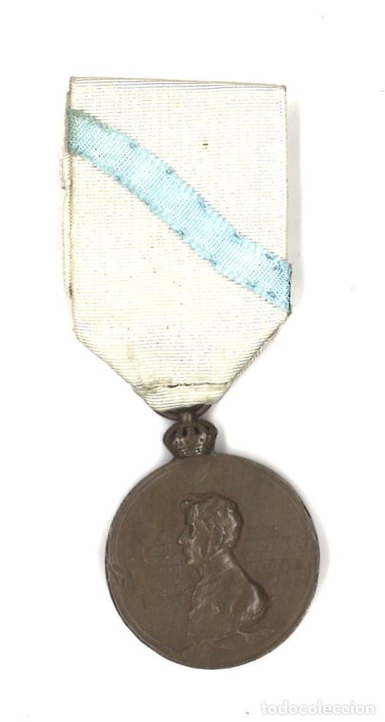 MEDALLA DEL CENTENARIO DE LA BATALLA DE PUENTE SAMPAYO 1809-1909 (Militar - Medallas Españolas Originales )