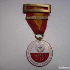 Militaria: MEDALLA DONANTES SANGRE 1937. Lote 107434567