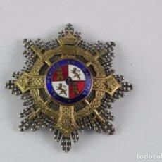 Militaria: ANTIGUA MEDALLA CRUZ DE GUERRA PLACA DEL MERITO EN CAMPAÑA, EPOCA DE FRANCO, MEDALLA Y ESMALTE EN PE. Lote 107480251