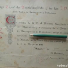Militaria: CONCESION MEDALLA DE LA VIEJA GUARDIA. Lote 107641311