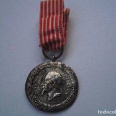 Militaria: FRANCIA-MEDALLA CAMPAÑA DE ITALIA 1859 EN PLATA FIRMADA BARRE, CON SU CINTA ORIGINAL, RARA Y ANTIGUA. Lote 107747783