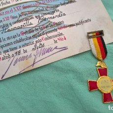Militaria: MEDALLA Y CONCESION- DIPLOMA- 25 AÑOS DE PAZ - ANIVERSARIO FIN DE GUERRA CIVIL.. Lote 107960367