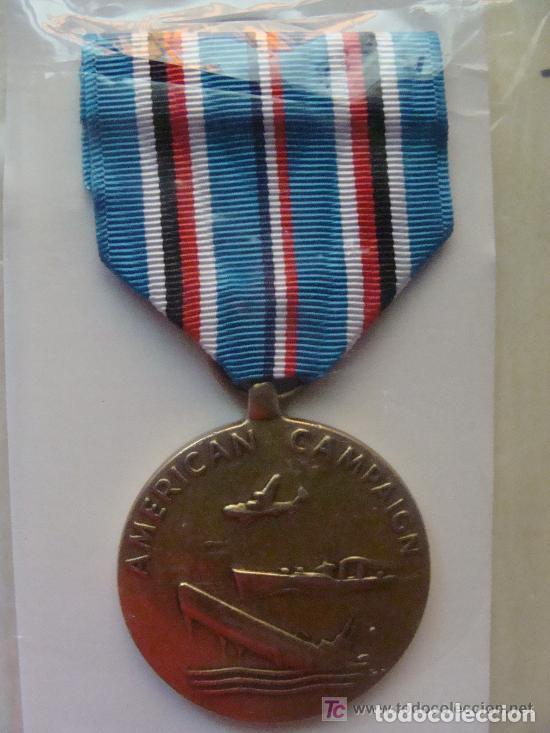 MEDALLA MILITAR USA. CAMPAÑA AMERICANA SEGUNDA GUERRA MUNDIAL. AMERICAN CAMPAIGN. PRECINTADA. (Militar - Medallas Extranjeras Originales)
