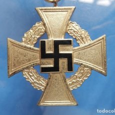 Militaria: ALEMANIA. III REICH. MEDALLA 40 AÑOS. TREUDIENST EHRENZEICHEN. CON CAJA.. Lote 108372679
