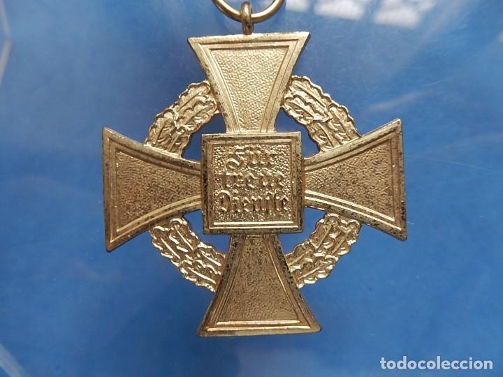 Militaria: Alemania. III Reich. Medalla 40 años. Treudienst Ehrenzeichen. Con caja. - Foto 6 - 108372679