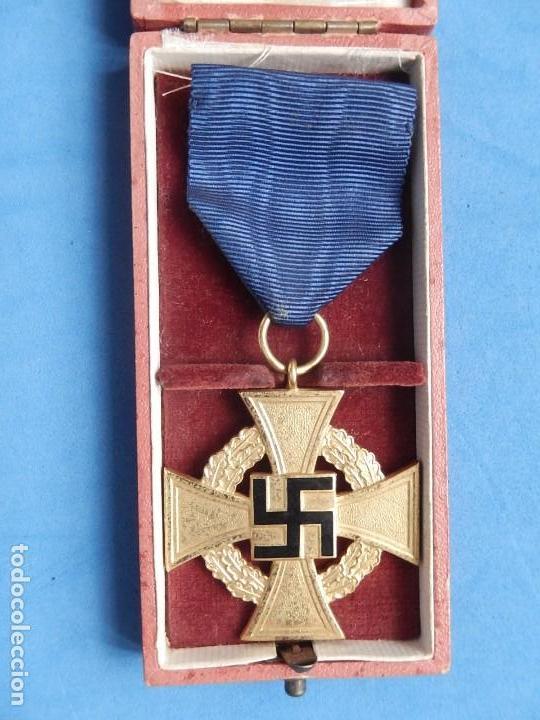 Militaria: Alemania. III Reich. Medalla 40 años. Treudienst Ehrenzeichen. Con caja. - Foto 10 - 108372679