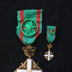 Militaria: VIEJA ORDEN AL MÉRITO Y MINIATURA DE LA REPÚBLICA ITALIANA.. Lote 108675987