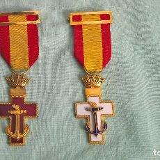 Militaria: CRUZ MERITO NAVAL DISTINTIVO BLANCO Y ROJO , 2 º CLASE,MODELO 1938..ORIGINALES. Lote 108870143
