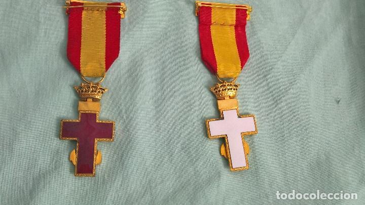 Militaria: Cruz Merito Naval distintivo Blanco y rojo , 2 º clase,.originales epoca de Franco. - Foto 2 - 108870143