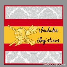 Militaria: AZULEJO 10X10 CON EMBLEMA DE LAS UNIDADES LOGÍSTICAS. Lote 109236227