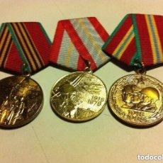 Militaria: URSS - LOTE DE 3 MEDALLAS - ORIGINALES. Lote 109263471