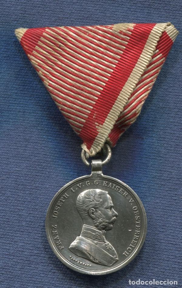 Austria  Medalla de la Bravura  1846-1916  Franz Joseph I  Plata