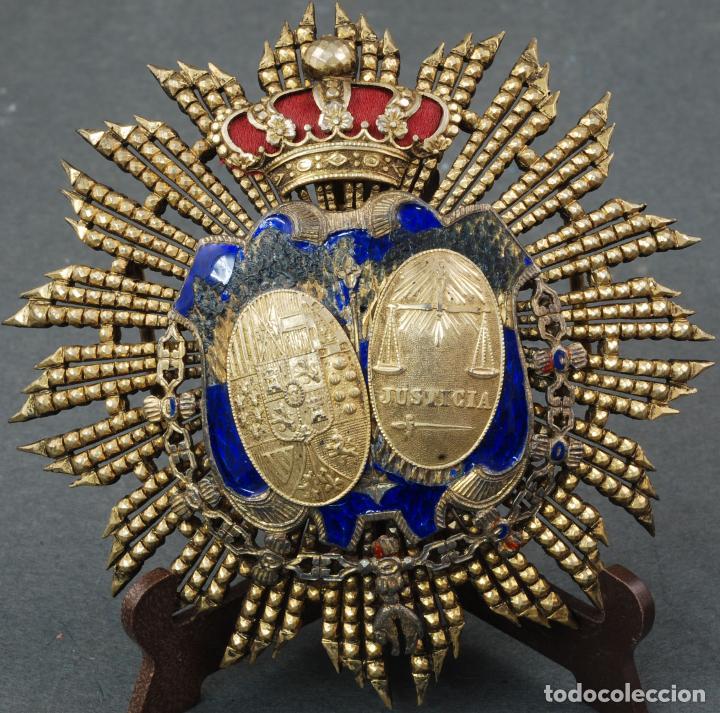 PLACA MEDALLA JUEZ MINISTERIO DE JUSTICIA PLATA DORADA ÉPOCA ALFONSO XIII (Militar - Medallas Españolas Originales )