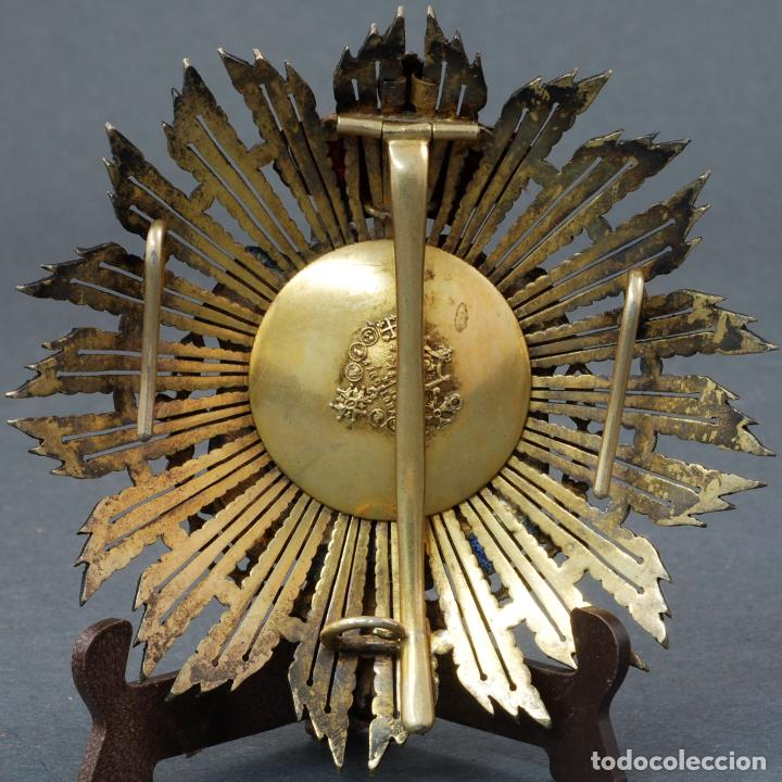 Militaria: Placa medalla juez Ministerio de Justicia plata dorada época Alfonso XIII - Foto 3 - 109452823