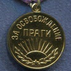 Militaria: URSS. UNION SOVIETICA. MEDALLA POR LA LIBERACIÓN DE PRAGA. VARIANTE 3.. Lote 109484799