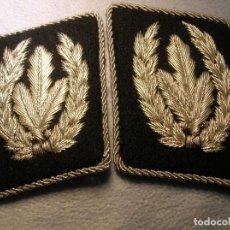 Militaria: EXCEPCIONALES PARCHES DE CUELLO DEL REICHSFÜHRER DE LAS SS HIMMLER. BORDADOS EN HILO METALICO. Lote 109486767