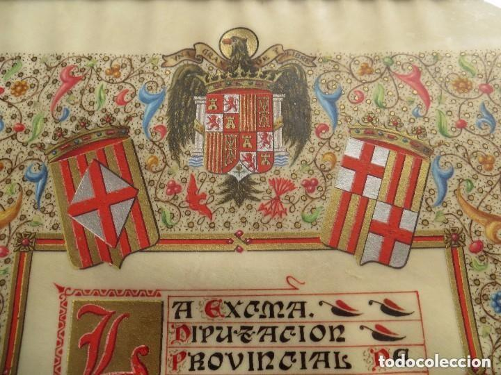 Militaria: CONCESION DE LA MEDALLA DE ORO DE BARCELONA A MUY ALTO POLITICO FRANQUISTA. FIRMADO POR SAMARANCH. - Foto 4 - 109695659