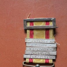 Militaria: MEDALLA ALFONSO XII. PASADORES ESTELLA TOLOSA GUETARIA PEÑAPLATA PAMPLONA. Lote 110020331