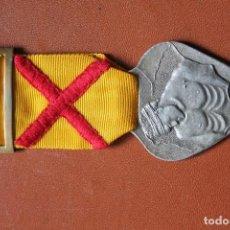 Militaria: MEDALLA DE SUFRIMIENTOS POR LA PATRIA. 1938 PLATA. CINTA HERIDO. Lote 110020475