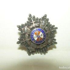 Militaria: ANTIGUA INSIGNIA ESMALTADA DE PLATA....AL MERITO EN CAMPAÑA.. Lote 110043903