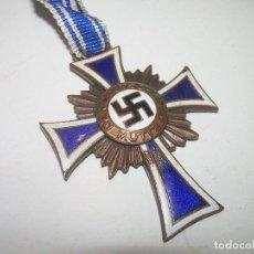 Militaria: MEDALLA ESMALTADA....DER DEUTSCHEN MUTTER..1938..FIRMADA.. Lote 110089503